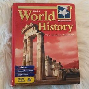 Holt World History Textbook